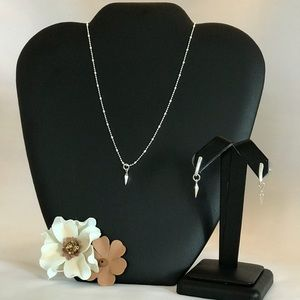Sterling Silver To the Point Necklace